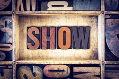 Stock Photo of Show Concept Letterpress Type