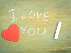 Lettering  I love you - stock photo