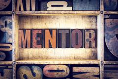Mentor Concept Letterpress Type - stock photo