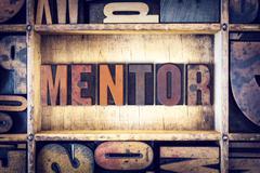 Mentor Concept Letterpress Type Stock Photos