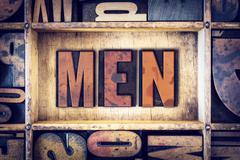 Men Concept Letterpress Type - stock photo
