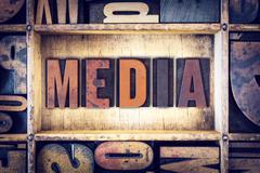 Stock Photo of Media Concept Letterpress Type