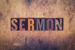 Sermon Concept Wooden Letterpress Type - stock photo