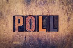 Poll Concept Wooden Letterpress Type - stock photo