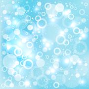 dream circles blue background - stock illustration