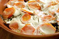 Scalloped Carrots Casserole - stock photo