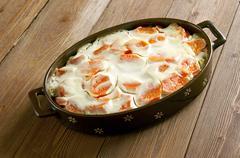 Creamy Carrot Casserole - stock photo