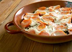 Scalloped Carrots Casserole - stock photo