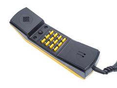 Handset with buttons numbers - stock photo