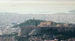 Top View of the Acropolis Greece Stock Footage
