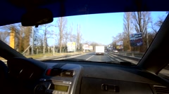 Car interior in moving vehicle Stock Footage