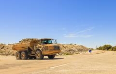 Heavy dump truck or dumper Stock Photos