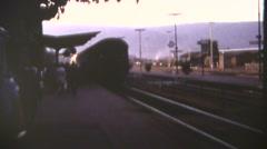 European trains, 1960's, rail yard operations - stock footage
