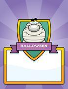 Cartoon Mummy Halloween Graphic - stock illustration
