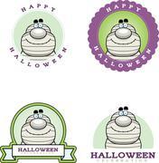 Cartoon Mummy Halloween Graphic Stock Illustration