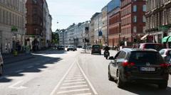 Time Lapse of Busy Street in Copenhagen Denmark Stock Footage