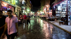 Time Lapse of Street Bazaar in Old City Cairo Egypt - stock footage