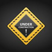 Under conctruction sign Stock Illustration