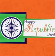 Funky Republic Day card in vector format.. - stock illustration