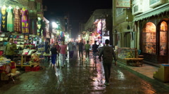 Time Lapse of Street Bazaar in Old City Cairo Egypt Stock Footage