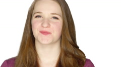 Cute teenager smiling and making silly faces. Stock Footage