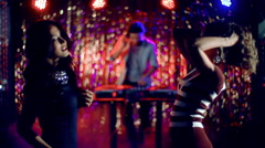 Girls At Nightclub Stock Footage