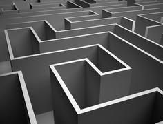 Endless maze Stock Illustration