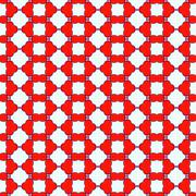 Pattern of red color on a white background - stock illustration