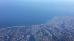 Aerial View of Coast Stock Footage