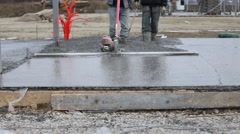 Leveling concrete specific units Stock Footage