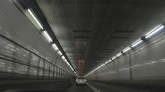 Driving through a city tunnel - stock footage
