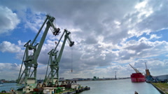 Time lapse of the port of Antwerp. Stock Footage
