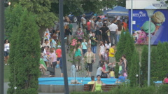 Relaxing in Stadium Park in Cluj-Napoca Stock Footage
