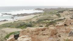 Ruggedly beautiful coastline scenery in Australia Stock Footage