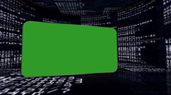 Numbers Room and Green Screen Monitor, with Alpha Channel, Loop, 4k Stock Footage