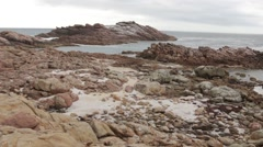 Huge rocky outcrops close to sea at Canal Rocks Stock Footage