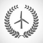 Stock Illustration of Isolated laurel wreath icon with a wind generator