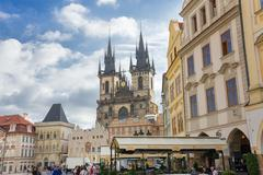 Stock Photo of People in old town hall - Prague - Czech Republic
