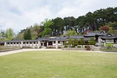 GANGNEUNG, KOREA - April 19, 2014: country house built and owned by a promine - stock photo