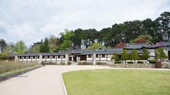 GANGNEUNG, KOREA - April 19, 2014: country house built and owned by a promine Stock Photos