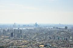 Stock Photo of SEOUL, KOREA - APRIL 04, 2014: View of Mapo and Yeouido from Namsan in Seoul