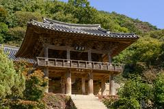 YEONGJU, KOREA - OCTOBER 15, 2014: Anyangru in Buseoksa Stock Photos