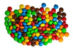 Close up of a pile of colorful chocolate coated candy Kuvituskuvat