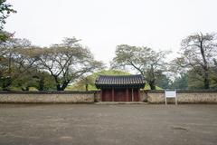GYEONGJU, KOREA - OCTOBER 20, 2014: tomb of king michu - stock photo