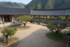 Andong, Korea - October 16, 2014: Byeongsanseowon - stock photo