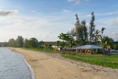 PHUKET, THAILAND - AUGUST 05, 2013: seashore between Phuket and Pang Nga - stock photo