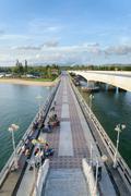 PHUKET, THAILAND - AUGUST 05, 2013: Bridge between Phuket and Pang Nga Stock Photos