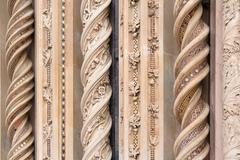 ORVIETO, ITALY - JANUARY 25, 2010: Detail of Orvieto Cathedral. - stock photo