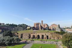 ROME, ITALY - JANUARY 21, 2010: whole view of foro romano Stock Photos