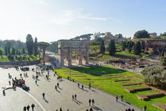 ROME, ITALY - JANUARY 21, 2010: Arch of Constantine - stock photo
